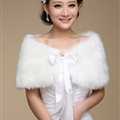 Pretty Bridal Bowknot Rabbit Wool Scarf Shawls Women Winter Warm Solid Panties 100*30CM - White
