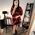 Pretty Cow Print Scarf Shawls Women Winter Warm Cashmere Panties 180*70CM - Red