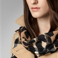 Pretty Leopard Print Scarf Shawls Women Winter Warm Cashmere Panties 180*70CM - Brown