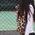 Pretty Leopard Print Scarves Wrap Women Winter Warm Cashmere Panties 195*70CM - Beige