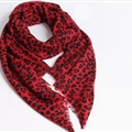 Quality Leopard Print Scarf Shawls Women Winter Warm Wool Panties 185*70CM - Red