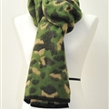 Quality Leopard Print Scarf Shawls Women Winter Warm Wool Panties 221*50CM - Green