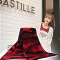 Unique Camo Print Scarf Shawls Women Winter Warm Wool Panties 210*40CM - Red