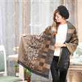 Unique Leopard Print Scarves Wrap Women Winter Warm Cashmere 200*65CM - Coffee