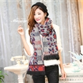 Unique Leopard Print Scarves Wrap Women Winter Warm Cashmere 200*65CM - Colorful