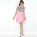 Beautiful Dresses Fall Ladies Leopard Print Zipper Bowknot - Pink