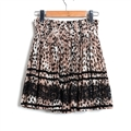 Classy Dresses Summer Ladies Printed Leopard Print Lace Semi Affordable - Coffee