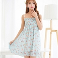 Cute Dresses Summer Girls Affordable Flower Bohemian Coast Chiffon - Light Blue