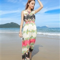 Cute Dresses Summer Girls Affordable Flower Bohemian Coast Chiffon Long - Colorful