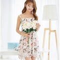 Cute Dresses Summer Girls Affordable Flower Bohemian Coast Chiffon - Pink