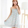 Cute Dresses Summer Girls Affordable Flower Bohemian Coast Chiffon - White Blue
