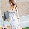 Cute Dresses Summer Girls Affordable Flower Bohemian Coast Chiffon - White Purple