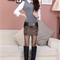 Fashion Dresses Ladies Leopard Print Sexy Short Semi Bodycon Low-Waist - Brown
