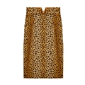 Funky Dresses Women Winter Leopard Print Knee Length Semi Short - Brown