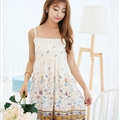 Sweet Dresses Summer Girls Affordable Floral Bohemian Coast Chiffon - White