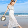 Sweet Dresses Summer Girls Affordable Flower Bohemian Coast Chiffon Long - White