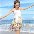 Sweet Dresses Summer Girls Affordable Flower Bohemian Coast Chiffon - White