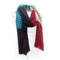 Cheap Zebra Print Scarves Wrap Women Winter Warm Cashmere 200*45CM - Brown Red