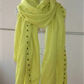 Classic Beaded Scarf Scarves For Women Winter Warm Cotton Panties 215*85CM - Green
