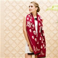 Classic Skull Scarves Wrap Women Winter Warm Cashmere Panties 180*70CM - Red