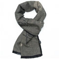 Classic Skull Women Scarf Fiber Cloth Warm Scarves Wraps 180*30CM - Grey