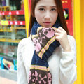 Cool Skull Scarves Wrap Women Winter Warm Cashmere Panties 205*62CM - Navy