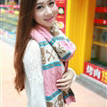 Cool Skull Scarves Wrap Women Winter Warm Cashmere Panties 205*62CM - Pink