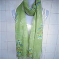Discount Skull Scarf Scarves For Women Winter Warm Cotton Panties 170*70CM - Green