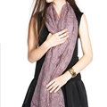 Embroidered Lace Scarves Wrap Women Winter Warm Polyester 195*68CM - Purple