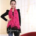 Exquisite Skull Women Scarf Shawls Winter Warm Polyester Scarves 180*140CM - Rose