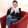 Exquisite Skull Women Scarf Shawls Winter Warm Polyester Scarves 180*140CM - White