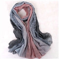 Floral Printed Lace Women Scarf Fiber Cloth Warm Scarves Wraps 180*95CM - Grey
