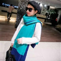 Free Fringe Scarves Wrap Women Winter Warm Cashmere Panties 195*65CM - Green