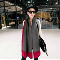 Free Fringe Scarves Wrap Women Winter Warm Cashmere Panties 195*65CM - Rose Grey