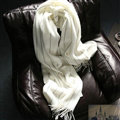 Fringed Fringe Scarves Wrap Women Winter Warm Cashmere Panties 200*65CM - White