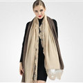 Good Floral Lace Scarves Wrap Women Winter Warm Polyester 210*65CM - Beige