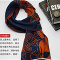 Nice Skull Scarf Shawls Women Winter Warm Wool Panties 195*40CM - Blue Orange