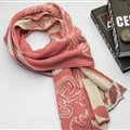 Nice Skull Scarf Shawls Women Winter Warm Wool Panties 195*40CM - Pink