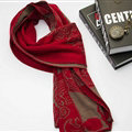 Nice Skull Scarf Shawls Women Winter Warm Wool Panties 195*40CM - Red