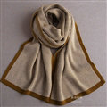 Popular Fringe Scarves Wraps Women Winter Warm Wool Panties 195*30CM - Brown