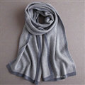 Popular Fringe Scarves Wraps Women Winter Warm Wool Panties 195*30CM - Grey