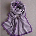 Popular Fringe Scarves Wraps Women Winter Warm Wool Panties 195*30CM - Purple