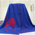 Popular Skull Scarf Shawls Women Winter Warm Wool Panties 180*70CM - Blue