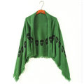 Pretty Skull Scarves Wrap Women Winter Warm Cashmere 140*140CM - Green
