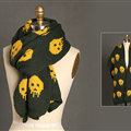 Pretty Skull Scarves Wrap Women Winter Warm Cashmere Panties 180*30CM - Army Green