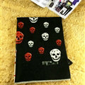 Pretty Skull Scarves Wrap Women Winter Warm Cashmere Panties 185*65CM - Black