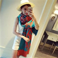 Quality Skull Scarves Wrap Women Winter Warm Cashmere Panties 190*68CM - Orange