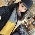 Unique Fringe Scarves Wrap Women Winter Warm Cashmere Panties 195*35CM - Yellow