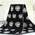Unique Skull Scarf Shawls Women Winter Warm Wool Panties 180*70CM - Black White