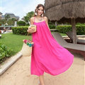 Classy Dresses Winter Ladies Long Skirts Backless Solid Beach Sleeveless - Rose